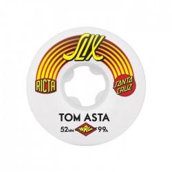 ROUES DE SKATE SLIX RICTA x SANTA CRUZ TOM ASTA 52mm / 99A